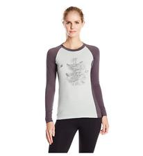 Dakine Womens Hillcrest Crew Baselayer Shirt, Mist/Shadow, Size Medium