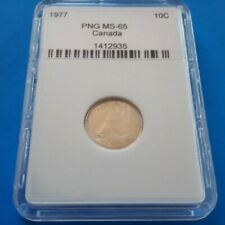 Canada, 10 Cents, Ten Cents. 1977. MS-65. PNG # 1412935