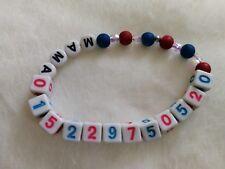 SOS - Notfallarmband für Kinder - Name und/oder Telefonnummer Armband