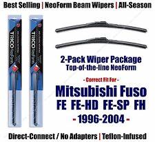 2pk NeoForm Wiper Blades fit 1996-2004 Mitsubishi Fuso FE FH Series 16210x2