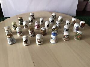 Thimbles Collection Job lot No.1 28 Thimbles