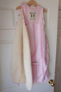 Merino Kids Sherpa Weight -  Sleeping Bag - Pink 0 - 2 yrs EUC