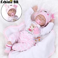 22'' Handmade Lifelike Baby Toy Doll Silicone Reborn Babies Newborn Girl Dolls