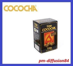 CHARBON COCOCHA - NATUREL PREMIUM GOLD - 1 Kilo - 2,5 x 2,5 x 2,5 cms - 72 Cubes