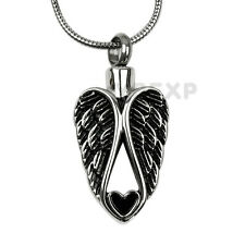 NEW Guardian Angel Heart Cremation Jewelry Ashes Keepsake Memorial Urn Necklace