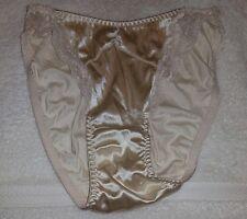 Vintage Maidenform Lovely Lace Secrets Silky Satin Hi Cut Panties Sz S