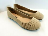 American Eagle Shoes Canvas Ballet Flats Tan Size Casual Slip On Comfort