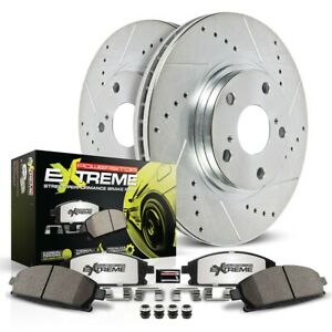 K6201-26 Powerstop Brake Disc and Pad Kits 2-Wheel Set Rear New for Mercedes