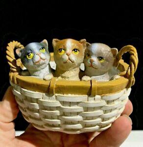 Primitive Gathering Basket THREE LITTLE KITTENS lost MITTENS Folk Art Doll ❤️