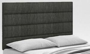 """Luxury Upholstered Linen Fabric Floor Standing Bed Headboard 54"""" Height Bed Head"""
