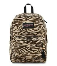 Brand New With Tags Jansport FX Gold Metallic Zebra Print Backpack TVP8ZE0