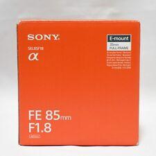Sony FE 85mm F1.8 Lens SEL85F18