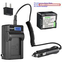 Kastar Battery LCD AC Charger for HITACHI DZ-BP14S DZ-GX25M DZ-GX3100 Camera