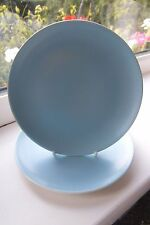 Poole Pottery Twin Tone Side Plates x 2 C104 Blue British