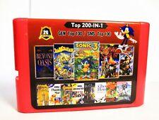 2G Game Card 200 in 1 For Sega Genesis 100 Top GEN Games + 100 Top Master System