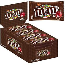 24 X BLISTER DI M&M'S MARRONE CHOCO CONFETTI CIOCCOLATO AL LATTE M & M'S 45gr