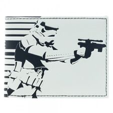 OFFICIAL STAR WARS - STORM TROOPER SHOOTING GALACTIC EMPIRE WHITE WALLET (NEW)