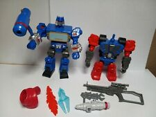 Transformers Hero Mashers Lot - 2014 Toy, Soundwave and Optimus Prime 'no head'