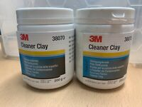 2X 3M CLEANER CLAY 38070 SAFELY REMOVES PAINT CONTAMINANTS & OVERSPRAY 200G