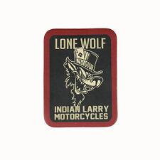 Biker Chopper Indian Larry Lone Wolf Poker Echt Leder Aufnäher Leather Patch NEU
