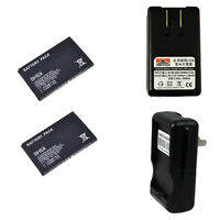 New 2X 1500mAh BH5X Battery + Charger for Motorola Droid x MB810