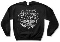Of Mice & Men Eagle Black Crew Neck Sweatshirt New Official