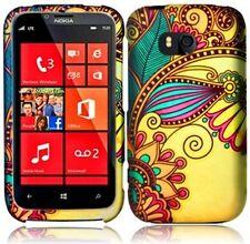 Design Rubberized Hard Case for Nokia Lumia 822 - Antique Flower
