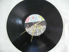 """THE BEATLES All You Need Is Love   VINYL 12"""" lp Wall Clock"""
