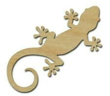 Lizard Shape Unfinished Wood Craft Cutouts Gecko DIY Crafts Variety Of Sizes 001