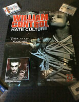WILLIAM CONTROL POSTER Hate Culture Promotional Poster Aiden *Will Francis RARE