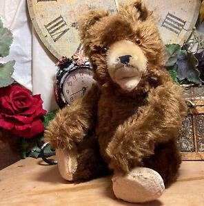 "14"" ANTIQUE 1940s RARE KNICKERBOCKER TEDDY BEAR WORKING GROWLER LIKE TEDDY BABY"