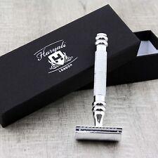 Stainless Steel Men's Shaving De Safety Razor.Perfect for Deep & Wet Shave+blade