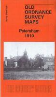 OLD ORDNANCE SURVEY MAP PETERSHAM 1910 ALL SAINTS CHURCH HAM HOUSE MARBLEHILL