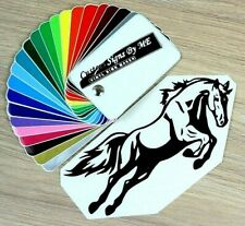 HORSE Jump Car Sticker Vinyl Decal Adhesive Windscreen Trailer Wall Laptop