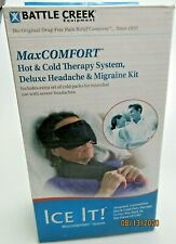 Battle Creek Deluxe Headache & Migraine Kit Hot & Cold Therapy Ice It #611 New