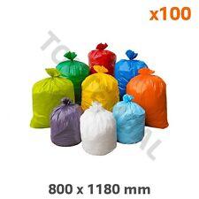 Sac poubelle coloré blanc PEBD 50µ 130L (x100) (par 100)