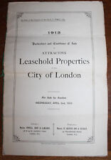 1913 Sales Particulars for St Saint Swithin's Lane King William Street London