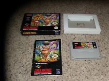 Chuck Rock Super Nintendo Pal Version Complete with box and manual SNES