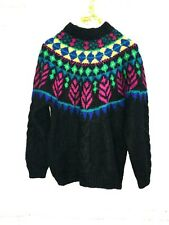 Vintage Forenza M Mohair Blend Colorful Fair Isle Sweater Medium