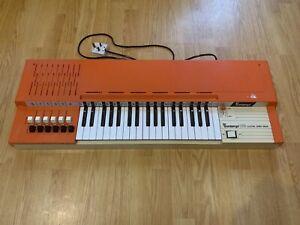 Bontempi B 109 Electric Chord Organ Piano Vintage Orange Fully Working