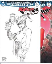 (2016) DC REBIRTH HARLEY QUINN #1 MICHAEL TURNER COLOR AND SKETCH VARIANT COVER!