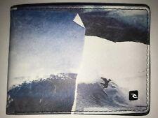 Rip Curl Lime Black Capture Slim Bifold Wallet Faux Leather Boys MENS Surf Xmas