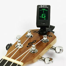 Chromatic Clip-On Digital Tuner for Acoustic Electric Guitar Bass Violin  Loud