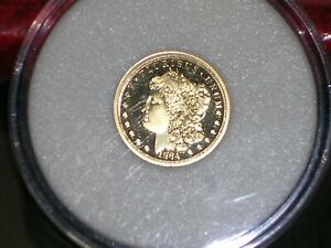 1/10 th Ounce Gold (2020) 1964 Morgan Dollar Type $5 24k Pure Gold w/Certificate