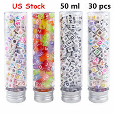 JPSOE 30 Pack 50ml Clear Flat Plastic Test Tubes with Screw Caps Candy Container