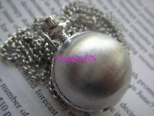 Unique STYLISH Silvery Ball Design Pendant POCKET Quartz Watch