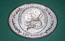 Belt Buckle- Life Member, North American Hunting Club,  Eagle, Rifle, Bow Arrow