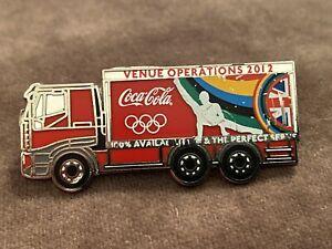 Very Rare London 2012 Olympics Pin Badge Coca Cola Coke Lorry Venue Operations