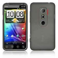 AMZER Soft Gel TPU Gloss Skin Fit Case Cover for HTC EVO 3D - Smoke Grey