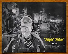 O WINSTON LINK - NIGHT TRICK - 1957 1ST EDITION - NICE COPY